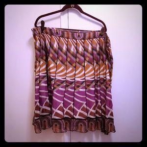 Dresses & Skirts - Purple multi colored pleated skirt